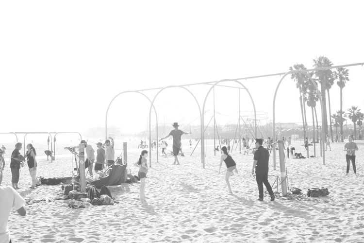 overexposed and into the sun B&w Street Photography Beach Beach Life Black And White Blackandwhite California Copy Space Fujifilm_xseries Large Group Of People Leisure Activity Lifestyles Overexposed Sand Santa Monica Showing Imperfection Slack Line Street Photography Streetphotography The Street Photographer - 2016 EyeEm Awards