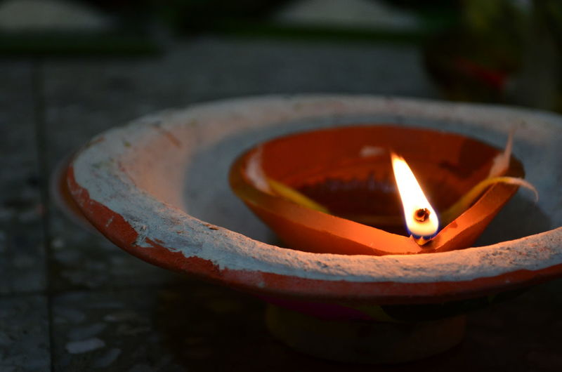 Earthen oil lamp Worship Check This Out Kolkata Oil Lamp Diwali Celebration