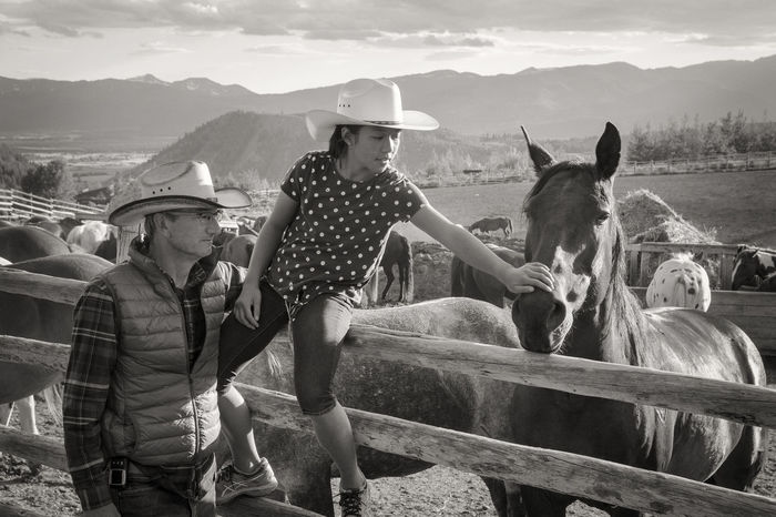 Cowboy Cowboy Hats  Cowgirl Fencepost Horse Horse Ranch Horses Leisure Activity Men Mountain Range Ranch Spring Creek Ranch Wyoming Adventure