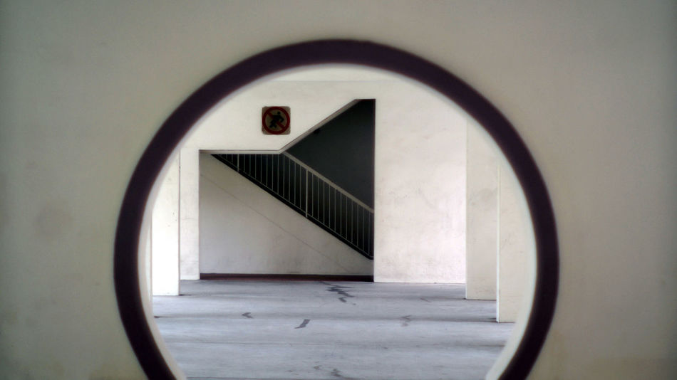 Framming Architecture Circle Close-up Day Geometric Shape Indoors  Lifestyle Photography Lifestyles No People Stairs Void Deck Window