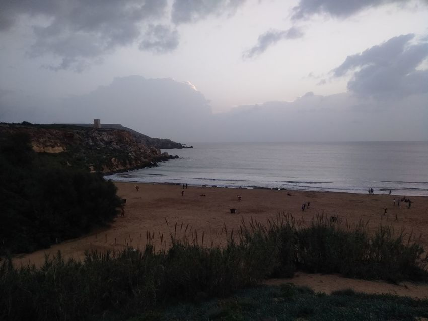 Malta Mediterranean  Beach Beauty In Nature Clouds Clouds And Sky Golden Bay Landscape Nature Outdoors Scenics Sea Sky Tranquility Water
