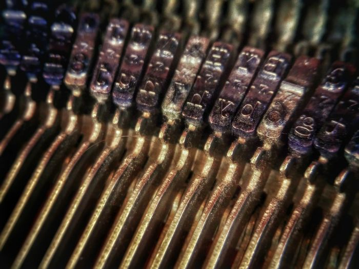 Internal word play. Macro Detail Close-up Fine Art Internal Machinery Machinery Internal View Internal Analogue Typewriter Showing Imperfection