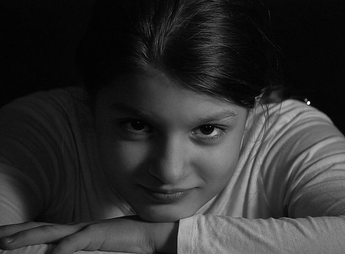 Blackandwhite Blackandwhite Blackandwhite Blackandwhite Portrait Looking At Camera One Person Young Adult Portrait Real People Lifestyles Headshot Childhood Young Women Girls
