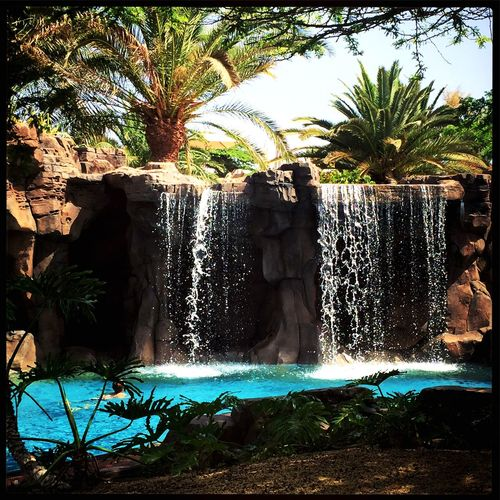 Waterfalls at lopesan Baobab