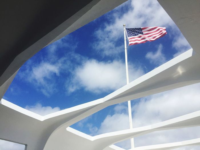 Pearl Harbor Memorial Cloud - Sky Outdoors Flag Stars And Stripes First Eyeem Photo