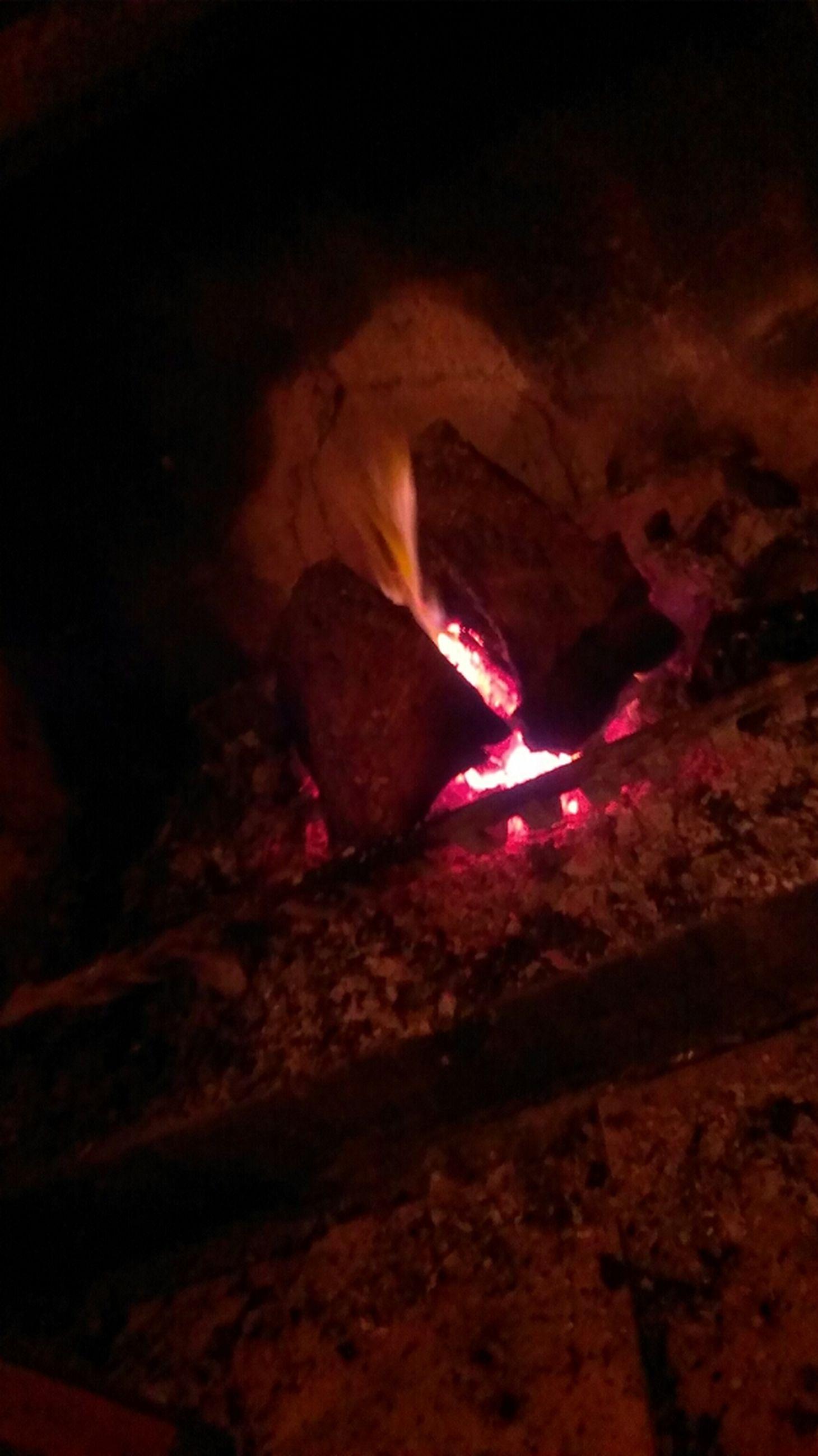 flame, burning, heat - temperature, fire - natural phenomenon, indoors, night, glowing, close-up, fire, dark, illuminated, heat, light - natural phenomenon, bonfire, no people, rock - object, cave, smoke, damaged, candle