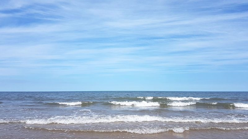Beach Sea Horizon Over Water Water Wave Sand Nature Beauty In Nature Scenics Tranquility Outdoors Cloud - Sky Sky Blue Tranquil Scene No People Summer Day Norfolk Holkham Beach Holkham