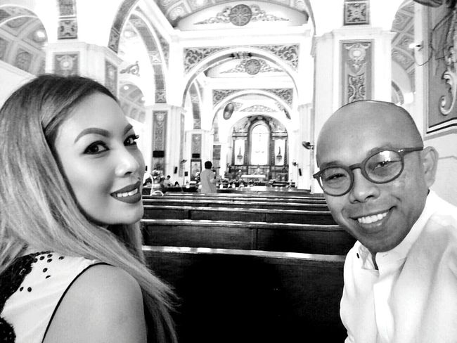 Having a peaceful heart beat whenever I am inside the church. Happiness Parish Church Monochrome HuaweiP9 Liecalense Religious Place