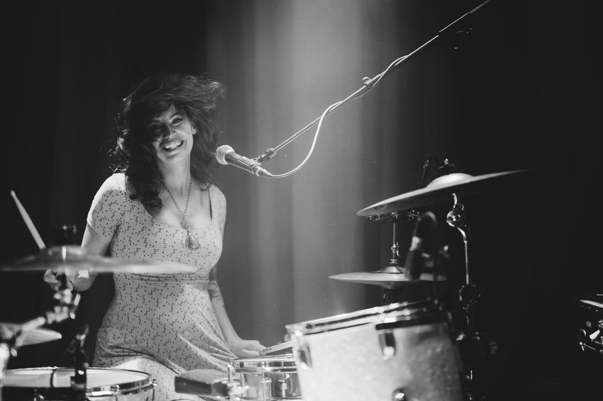 The Portraitist - 2018 EyeEm Awards Drums Front View Happiness Indoors  Music One Person Smiling Stage Women