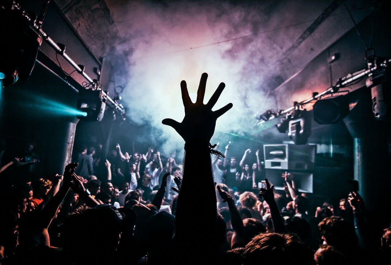 Crowd Enjoying Music At Nightclub