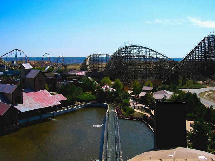 Amusement park against sky