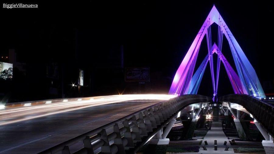 BiggieVillanueva Puente Puente Atirantado Noche Bulbo Canon