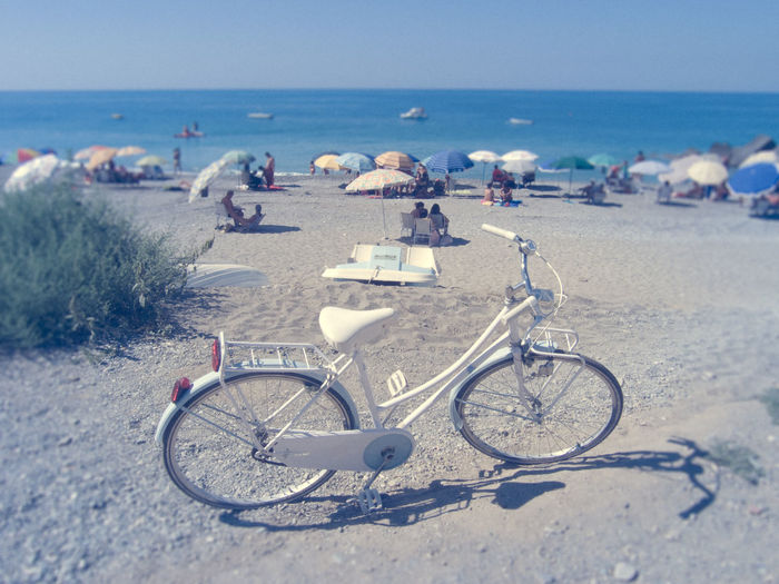 Summer time Beach Beauty In Nature Bicycle Day Holidays Horizon Over Water Live For The Story Outdoors Sand Sea Sky Summer Vacations Water