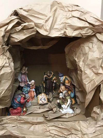 Jesus manger Handmade Archival Indoors  People Domestic Life Cardboard Box Day