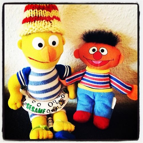 Ernie and Bert. Stefan_home Ernie Bert Pic Picoftheday Lomoblog IPhoneography @stefanoffenbach