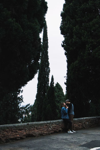 The first love Adult Men Women Nature Lifestyles Outdoors Couple - Relationship Positive Emotion Emotion Two People Casual Clothing Real People Sweetness Young Love Silence Peace Tree Verona Italy Young Adult Love Human Connection Potrait_photography Streetphotography
