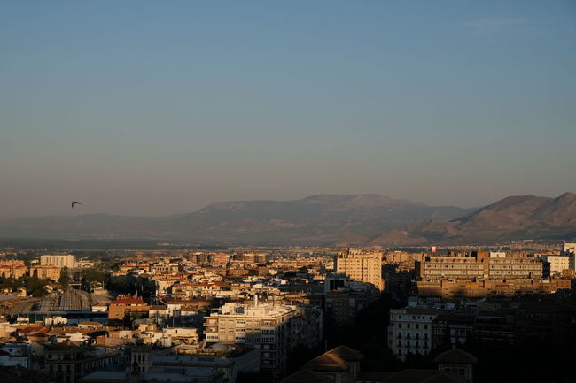 Roadtrip around Andalusia/Spain. 2nd Stop: Granada City Cityscape Sky Nature No People Clear Sky Copy Space High Angle View Outdoors City Life TOWNSCAPE Mountain Community Travel Travel Destinations Travel Photography Granada Granada, Spain Andalucía