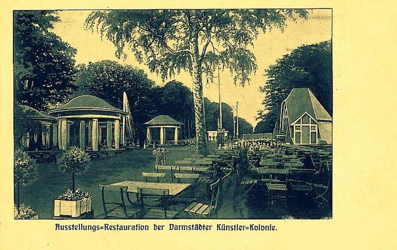 Mathildenhöhe Darmstadt postkarte von 1904 Weinschubert Hessisch
