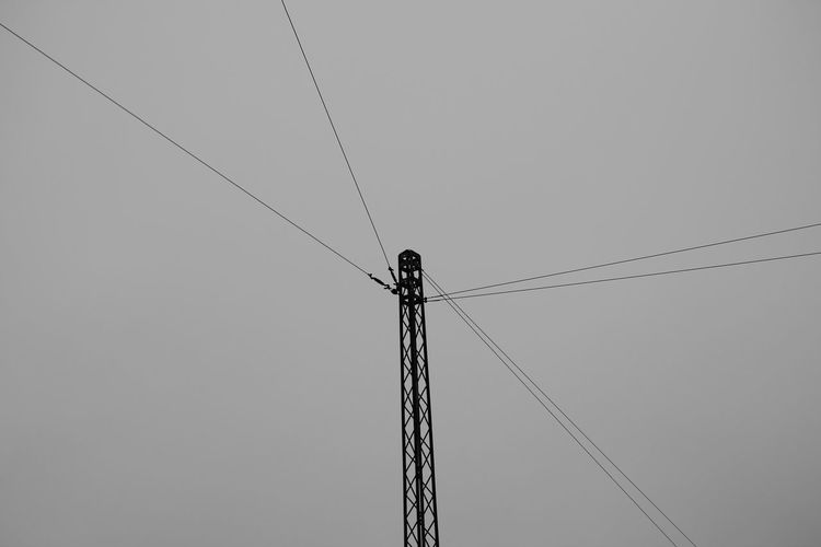 Cable Clear Sky Connection Day Electricity  Electricity Pylon Fuel And Power Generation Low Angle View Nature No People Outdoors Power Line  Power Supply Silhouette Sky Technology Welcome To Black Telephone Line Minimalist Architecture BYOPaper!