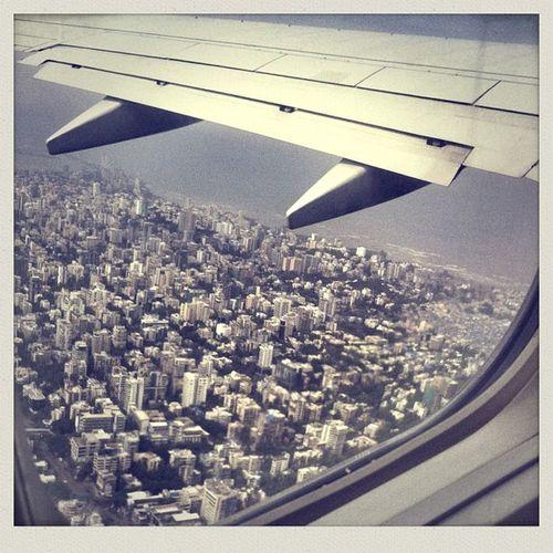 Goodbye Mumbai :: Jet Airways Flight 9w618 from Calcutta to Pune via Mumbai - 24/June/2013