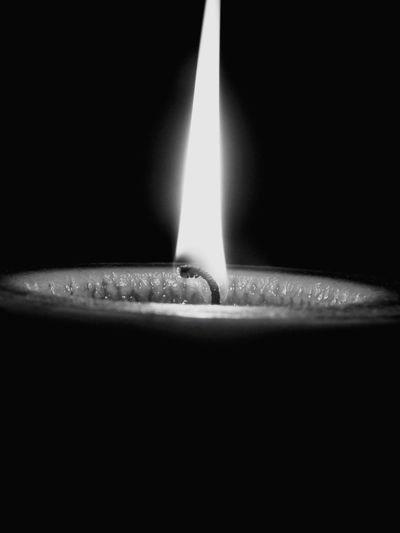 Heat - Temperature Glowing Burning Flame Single Object Night No People Black Background Black And White Photography Blackandwhite Black And White Friday EyeEmNewHere Candlelights Candleshoot Candle Wax