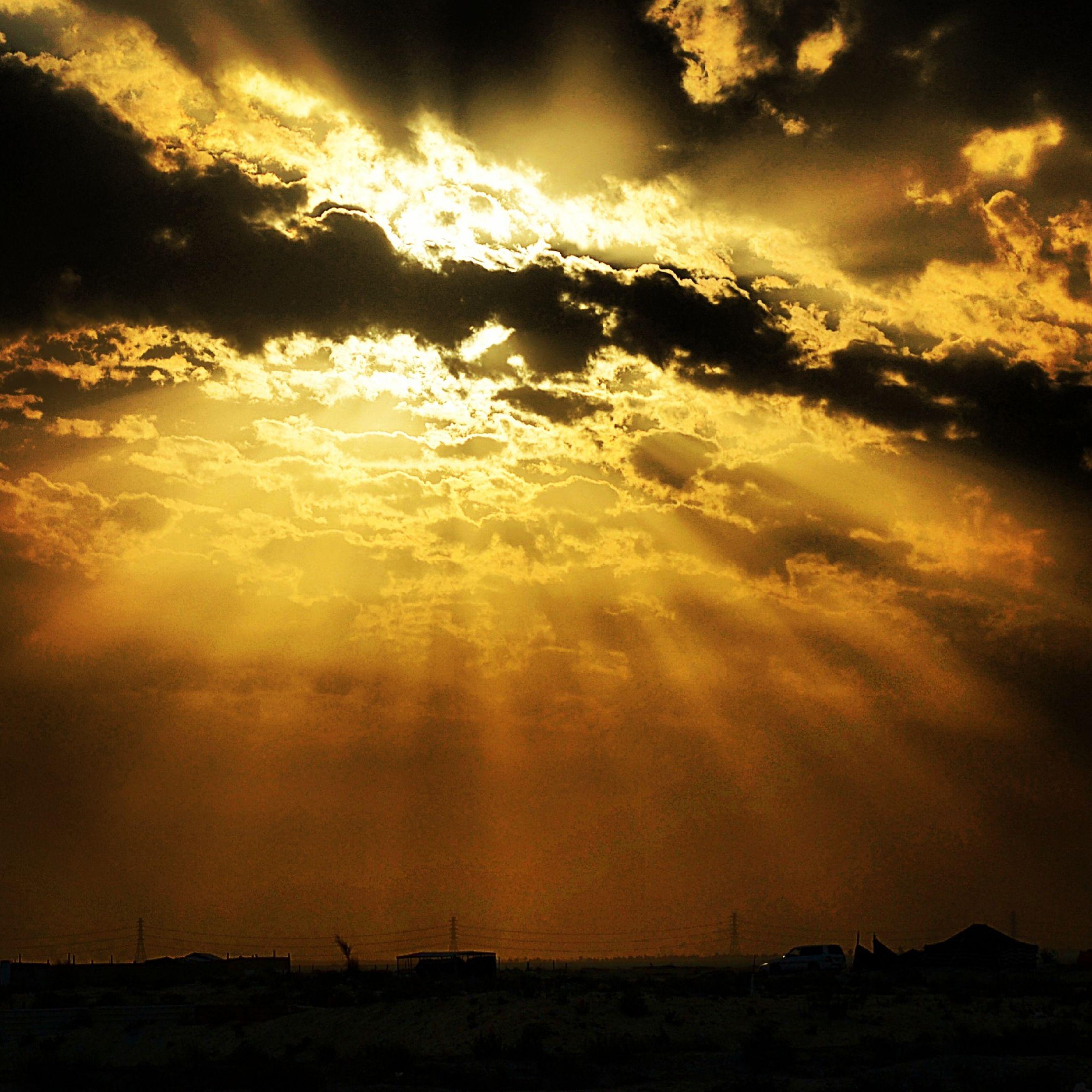 sunset, sky, scenics, cloud - sky, beauty in nature, tranquil scene, orange color, silhouette, tranquility, dramatic sky, idyllic, nature, cloudy, cloud, sun, atmospheric mood, landscape, moody sky, majestic, cloudscape