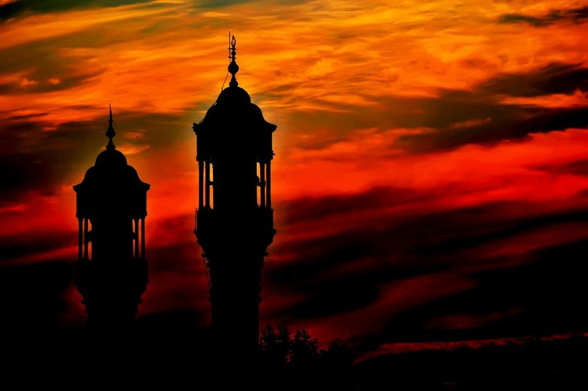 Sunset Sunset Silhouettes Sunsetlover Turkey Konya Aziziye Mosque Old Buildings Architecture Bosnahersek