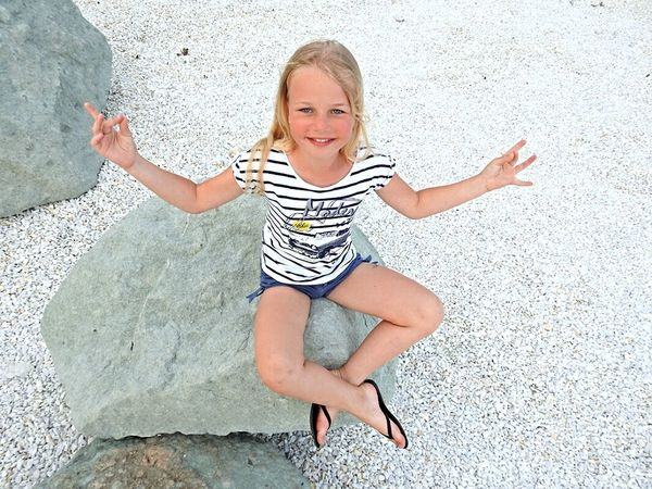 Daughter My Angel Cheese! Hello World Black Sea♥ Stone White Blonde Adler Russia Little Budha Angelina