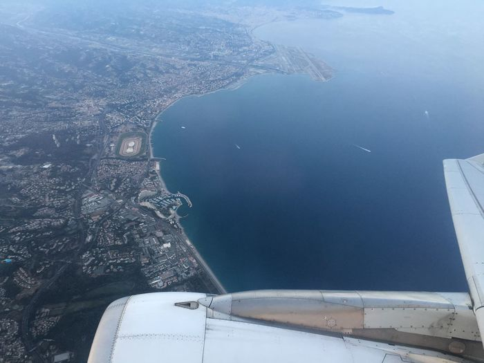 Aerial Photography Aerial Shot Aerial View Aircraft Aircraft Wing City View  Journey Landscape No People Plane Sea Seaview Sky South Of France