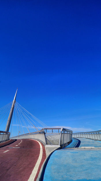 Ponte del Mare Bicycle Path Pedestrian Path Blue Bridge Bridge - Man Made Structure Clear Sky Sky Together Two Colours Two Ways