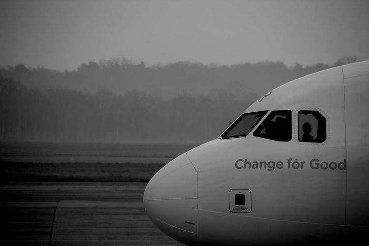 Airplane Airport Runway B&w Barcelona Beauty In Nature Black And White Blackandwhite Cloud Cloud - Sky Cropped Monochrome Photography EasyJet El Prat De Llobregat Journey Landscape Mode Of Transport Nature No People Outdoors Feel The Journey Scenics Sky Travel Traveling Voyager Let's Go. Together.