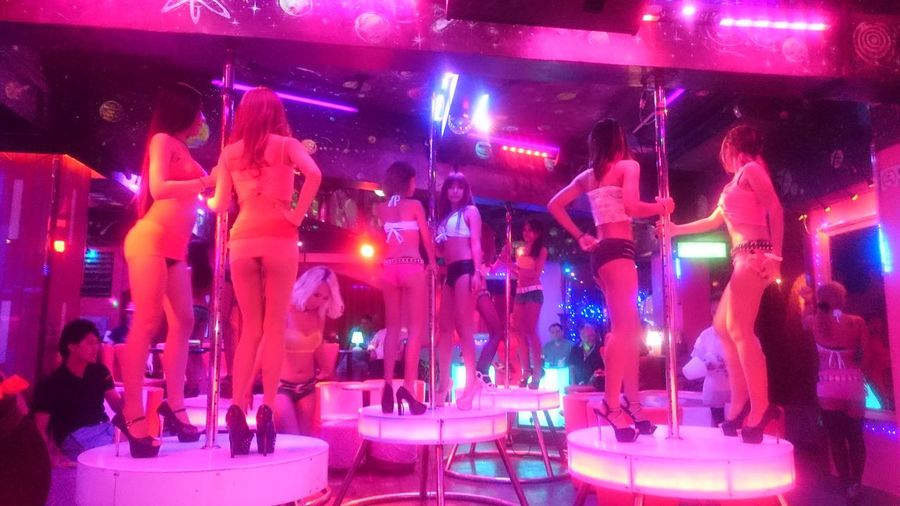 Bangkok Nightlife Thailand Dance Club The Color Pink Neon Lights Thai Girls Dance Pole Dancing Stripper Life Strip Show Thai Bar A Night Out In Bangkok Cities At Night