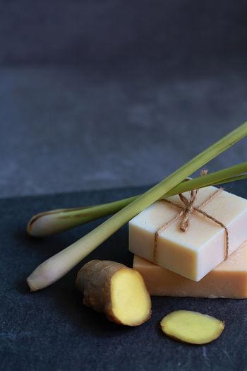Close-Up Of Food On Slate