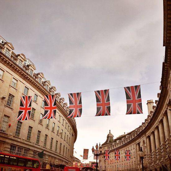 London Regent Street  Architecture Flag Union Jack Union Flag Celebrate Vintage Historical Event Queen Birthday Celebration England United Kingdom Urban Geometry City Building Exterior EyeEm LOST IN London