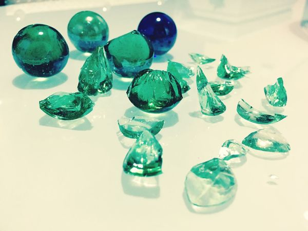 Broken Marble Playing Is Funny But Dangerous Multi Colored Beauty Of Glasses