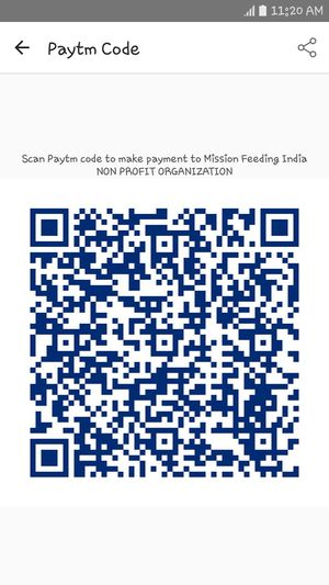 Mobile Conversations for charity non profit organization mission feeding india send your bless to this paytm code or 8839000906 . Charitywork