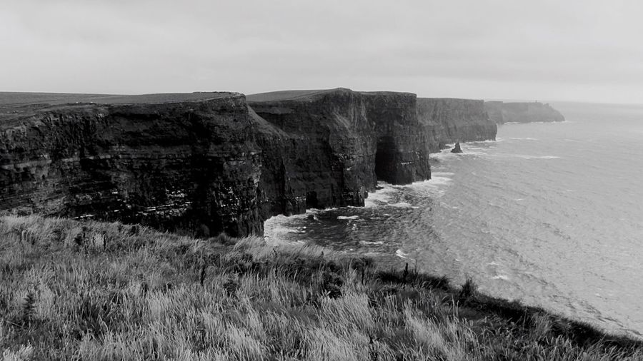 Eyem Black And White Landscape Protecting Where We Play EyeEm Nature Lover Nature Beautiful Nature Bnw Black & White Landscape #Nature #photography Ireland Cliffs Of Moher  Ireland🍀 Cliffs Ocean View Atlantic Ocean EyeEm Landscapes With WhiteWall Share Your Adventure CliffsOfMhoer Ocean Waves Rough Day Monochrome Photography Landscapes Monochrome Outdoor