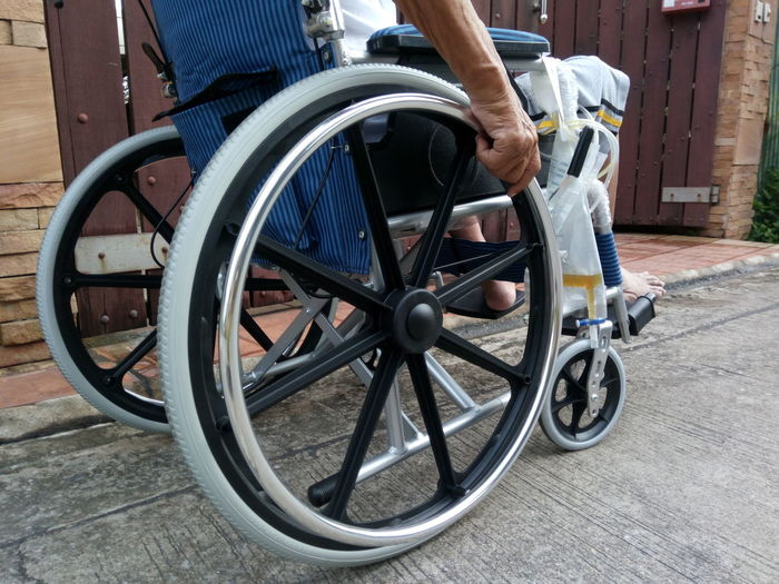 EyeEm Selects Wheelchair My Dad Outdoors Mode Of Transport Land Vehicle Life Fight Patient