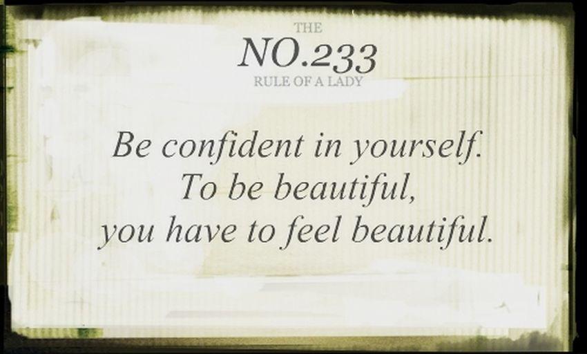 Be confident !