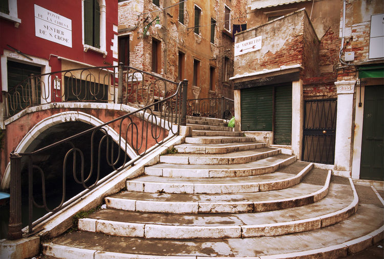 Old bridge in Venice, Italy Venice Venice, Italy Venezia Italy City Cityscape Landmark Famous Place Travel Destinations Staircase Architecture Steps And Staircases Bridge - Man Made Structure Bridge Stairs View No People Built Structure Building Exterior