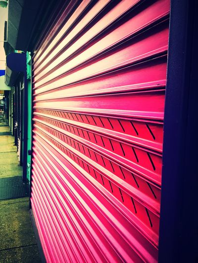 Pink Pink Metal Security Gate