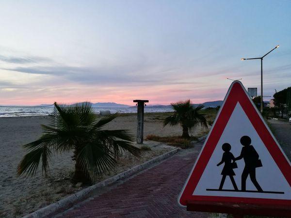 Sunset Outdoors Beach Sky Water Sea And Sky Beach Walk Schilder Schild Kusadasi, Turkey Kuşadası❤️ Kuşadası Turkey Kusadasi Turkey