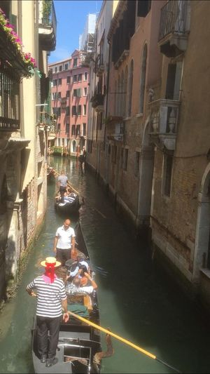 Venice Water Canal Real People Gondola - Traditional Boat