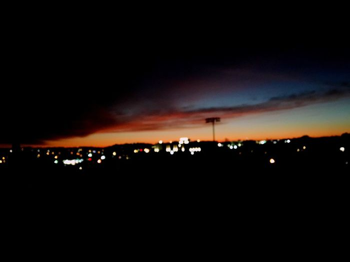 on the bleachers At School Dropped My Phone After Taking This We Werent Supposed To Go On The Bleachers Took This Before The Play Silhouette Sky Sunset Cloud - Sky Night Illuminated Outdoors Beauty In Nature Architecture No People Building Exterior Built Structure Nature Cityscape City