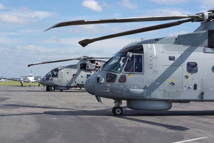 Aerospace Industry Air Vehicle Airport Airport Runway Army Combat Heli Helicopter Helicopters MERLIN Military Military Airplane Plane Rn Merlin Royal Navy Transportation War