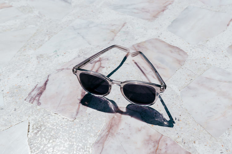 Close-up Day Eyeglasses  Eyewear Fashion High Angle View Marble Minimalism No People Pastel Pink Color Protection Reflection Shadow Still Life Sunglasses Terrazzo Live For The Story