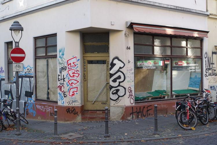 Old Town Bonn Old Town City Graffiti Text Architecture Building Exterior Built Structure