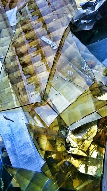 Broken glass in a garbage bin... Glass Abstract Unity Coloutful Graphic Vivid Structure Layers