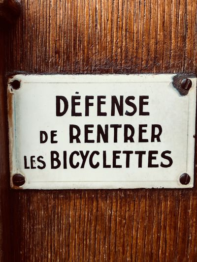 No bicycle in