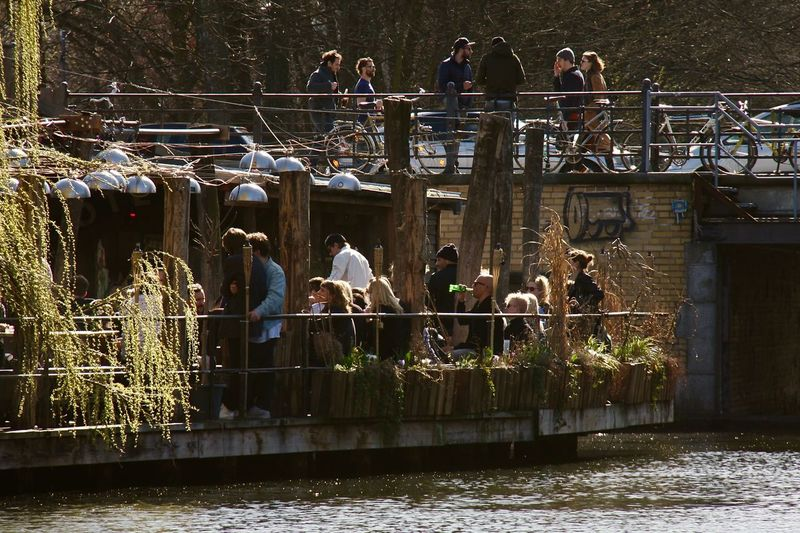 Spree Adult Architecture Building Exterior Built Structure Club Der Visionaere Day Large Group Of People Leisure Activity Lifestyles Mammal Men Nature Outdoors People Real People Springtime Standing Togetherness Water Women